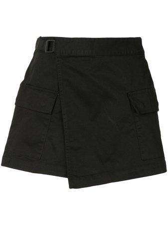 Izzue Asymmetric wrap-panel Shorts - Farfetch