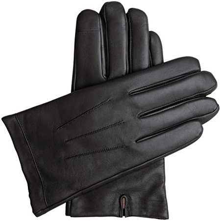 Downholme Touchscreen Leather Cashmere Lined Gloves for Men at Amazon Men's Clothing store