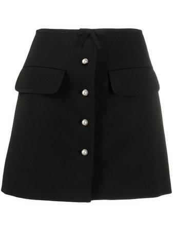 Miu Miu Pearl Button A-line Skirt - Farfetch