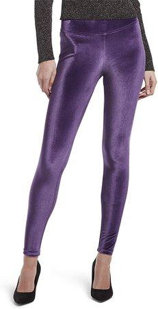 HUE Women's Velvet Leggings, Assorted, Aubergine, XL at Amazon Women's Clothing store
