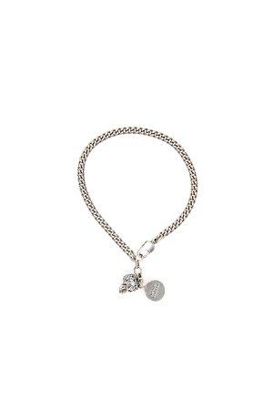 Alexander McQueen Pave Skull Bracelet