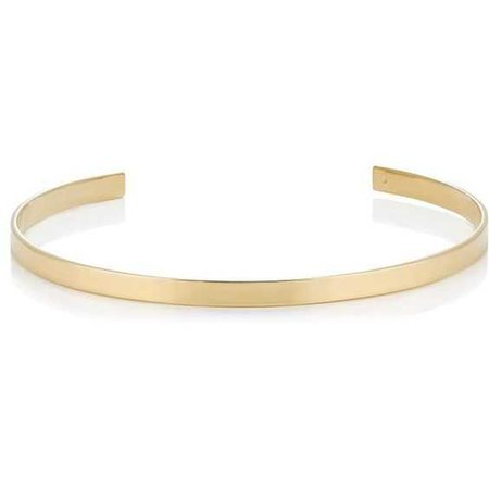 Jennifer Fisher Women's Skinny Flat Plate Choker (11.160 RUB) ❤ liked on Polyvore featuring jewelry, necklaces, chokers, gold, 14k necklace, 14k jewelry, flat necklace, choker jewellery and choker