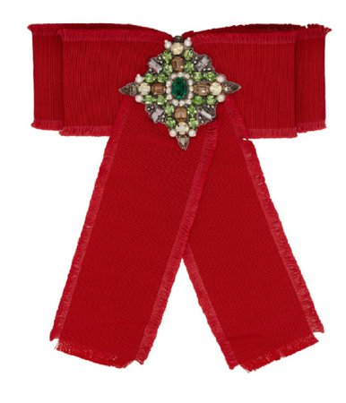 Gucci red bow brooch hair