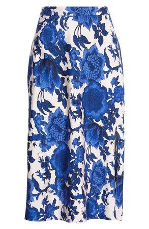DVF Beverly Floral Print Midi Skirt | Nordstrom
