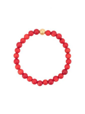 Shop red & gold Nialaya Jewelry faceted bead bracelet with Express Delivery - Farfetch