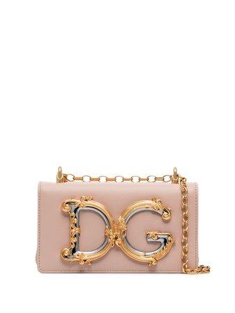 Dolce & Gabbana DG Girls logo-embellished Leather Shoulder Bag - Farfetch