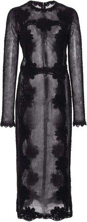 Dolce & Gabbana Sheer Chiffon Midi Dress