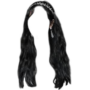 black hair png silver headband