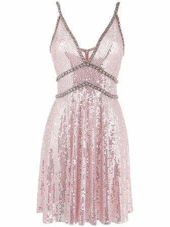 Jenny Packham crystal-embellished sequinned minidress - FARFETCH