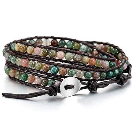 MOWOM Colorful Leather Bracelet