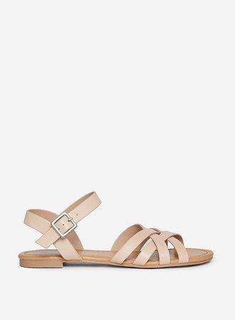 Nude 'Futura' Woven Sandals | Dorothy Perkins