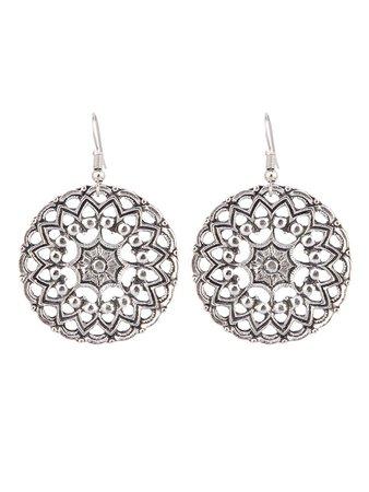Hollow Flower Design Drop Earrings