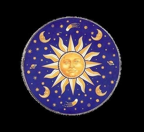 Dark-Blue Yellow Sun png