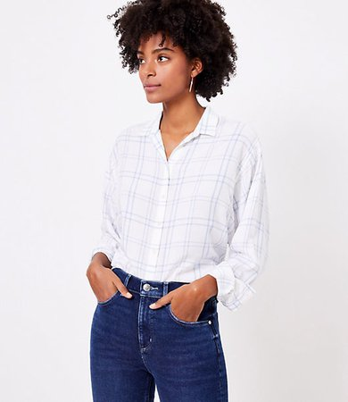 Windowpane Relaxed Shirt