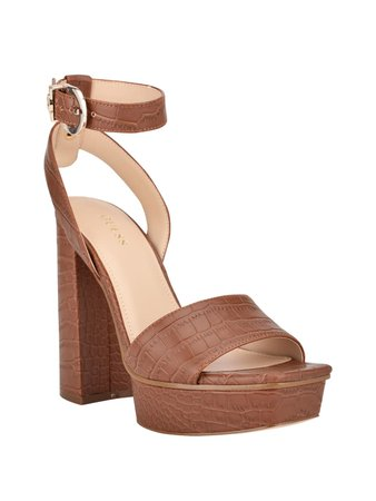 Rippa Croc Platform Sandal   GUESS