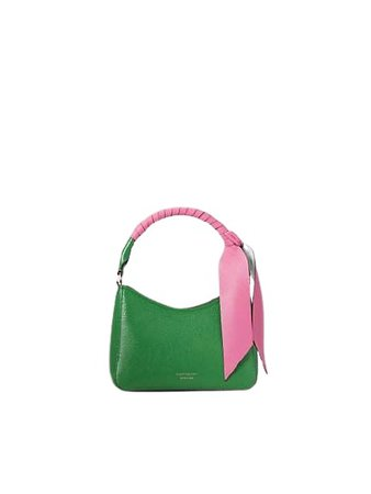 green spade with pink bow