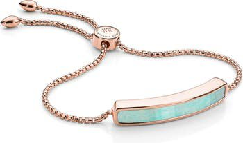 Monica Vinader Baja 18K Rose Gold Stone Bracelet | Nordstrom