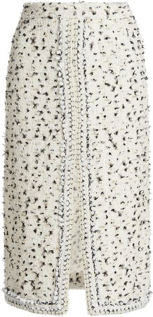 Giambattista Valli Embroidered Tweed Skirt