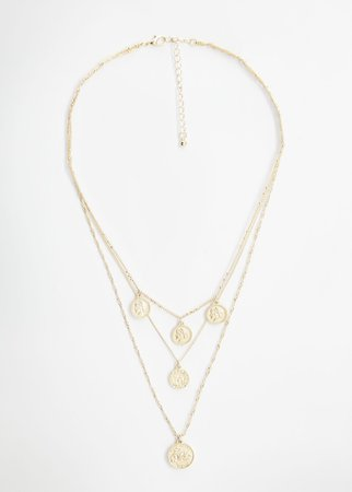 Coin charm necklace - Women | Mango USA