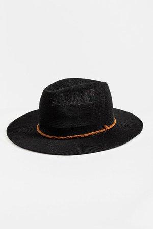 Anne Suede Band Panama Hat| francesca's