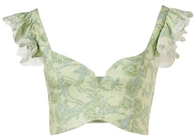 green floral top <3