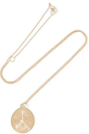 Brooke Gregson | Cancer 14-karat gold diamond necklace | NET-A-PORTER.COM