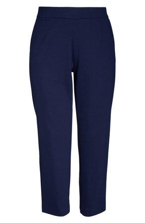 MICHAEL Michael Kors Flat Front Slim Fit Trousers (Plus Size) | Nordstrom