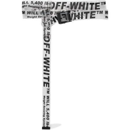 White Off-White Long Belt