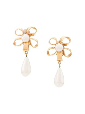 Chanel Pre-Owned '1980S Pearl Drop Earrings Vintage | Farfetch.com