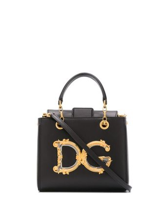 Shop black Dolce & Gabbana small DG Girls tote with Express Delivery - Farfetch