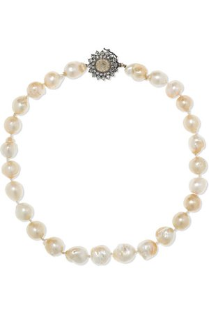Kimberly McDonald   18-karat blackened gold, pearl and diamond necklace   NET-A-PORTER.COM