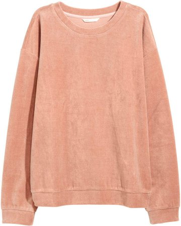 Velour Sweatshirt - Pink