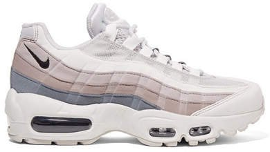Air Max 95 Suede, Mesh And Leather Sneakers - White