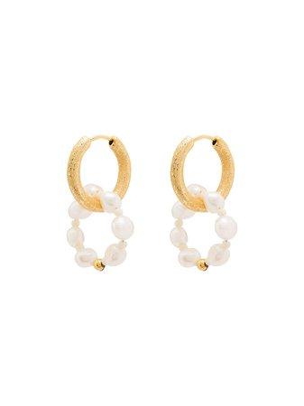 Anni Lu Ring Of Pearls Hoop Earrings - Farfetch