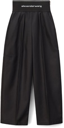 Logo Waist Wide Leg Pants