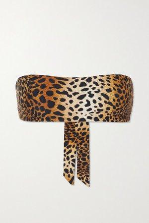 Ponza Animal-print Bandeau Bikini Top - Leopard print