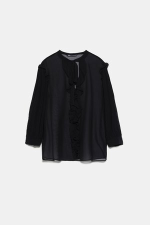 RUFFLED BLOUSE | ZARA United States
