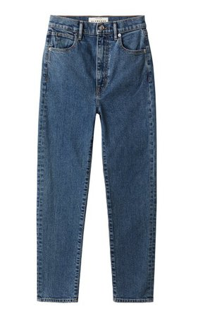 Beatnik Ankle Stretch High-Rise Slim-Leg Jeans By Slvrlake   Moda Operandi