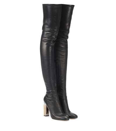 Leather Over-The-Knee Boots - Alexander McQueen | mytheresa.com
