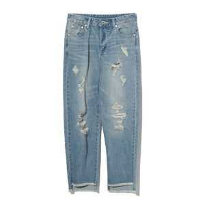 MUSIUM DIV. Distressed crop jeans