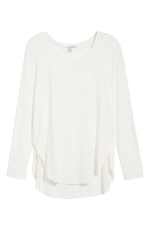 Halogen® Long Sleeve Knit Tunic (Regular & Petite)   Nordstrom