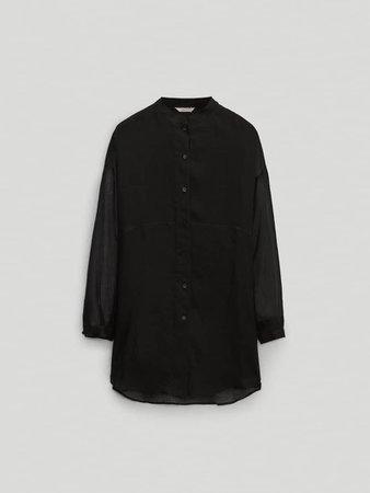 Black 100% ramie blouse Limited Edition - Women - Massimo Dutti