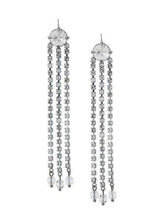Miu Miu Crystal Drop Earrings - Farfetch