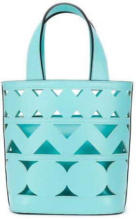 cut-out open-top tote bag