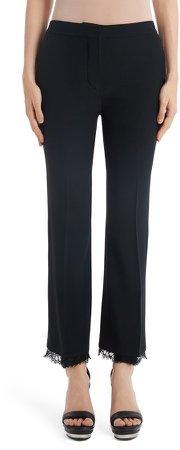 Lace Hem Ankle Pants