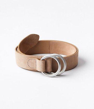 Double Ring Suede Waist Belt