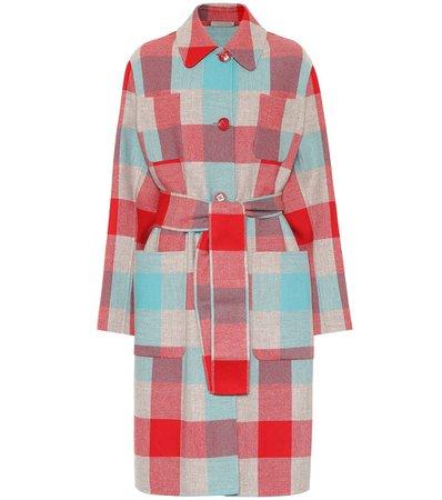 Plaid Wool And Cashmere Coat | Bottega Veneta - mytheresa