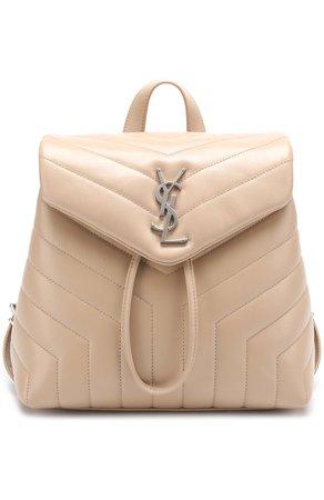 Женский бежевый рюкзак loulou monogram SAINT LAURENT — купить за 97400 руб. в интернет-магазине ЦУМ, арт. 487220/DV726