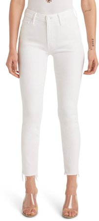 The Looker High Waist Fray Ankle Skinny Jeans