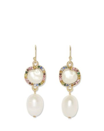 Sole Society Double Drop Earrings | Sole Society Shoes, Bags and Accessories white